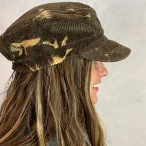 Accessories - Corduroy Conductor Hat with Bleached Pattern